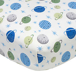 Gerber® Space Fitted Crib Sheet in Blue