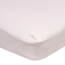 Gerber® Stripes Fitted Crib Sheet in Pink