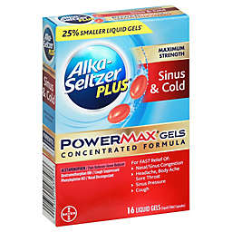 Alka-Seltzer Plus® 16-Count Cold and Cough Sinus PowerMax Gels
