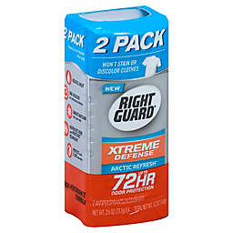 Right Guard Xtreme Defense 2-Pack 2.6 oz. Antiperspirant Deodorant Solid in Arctic Refresh