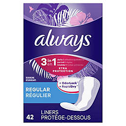 Always 3-in-1 Xtra Protection 42-Count Regular Unscented Daily Liners