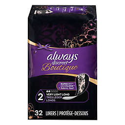 Always® Discreet 32-Count Boutique Very Light Long Incontinence Liners