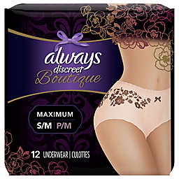Always Discreet Boutique 12-Count High Rise Small/Medium Underwear for Incontinence