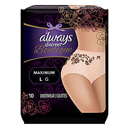 Always® Discreet 10-Count Boutique Maximum Protection Incontinence Underwear Size L