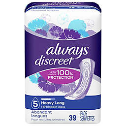 Always® Discreet Size 5 Heavy Long 39-Count Incontinence Pads