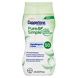 Coppertone® 6.0 oz. Pure & Simple Sunscreen Lotion with SPF 50