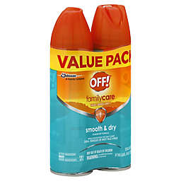 OFF!® 2-Pack 4 oz. FamilyCare Smooth & Dry Insect Repellent I Powder Dry Aerosol Sprays