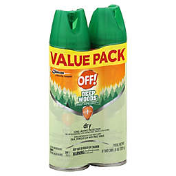 OFF!® 2-Pack 4 oz. Deep Woods® Dry Insect Repellent VIII Aerosol Sprays