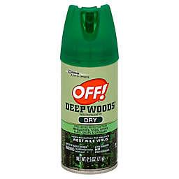 OFF!® 2.5 oz. Deep Woods® Dry Insect Repellent VIII Aerosol Spray