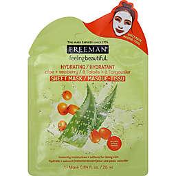 Freeman® Feeling Beautiful™ 0.84 fl. oz. Aloe + Seaberry Hydrating Sheet Mask