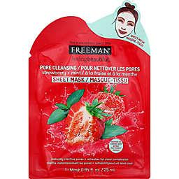 Freeman® Pore Cleansing Strawberry + Mint Facial Sheet Mask