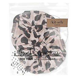 Kitsch 2-Piece Microfiber Leopard Towel Scrunchies
