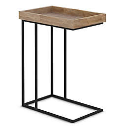 Simpli Home™ Gallagher C-Shape Side Table in Natural