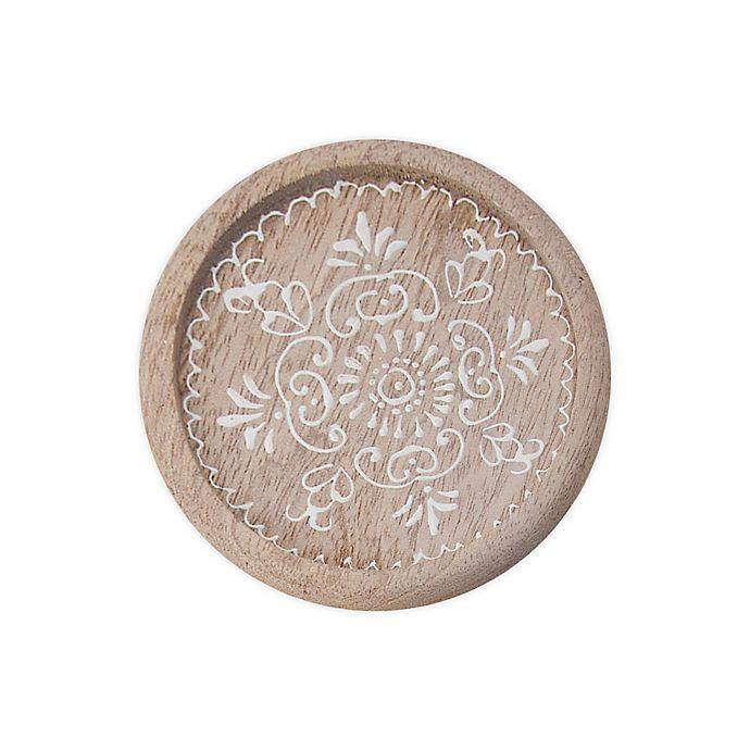Alternate image 1 for Thirstystone® Wood Medallion Round Coasters (Set of 4)