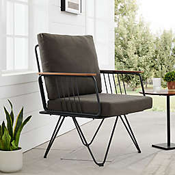 Forest Gate™ Modern Hairpin Patio Chair in Brown