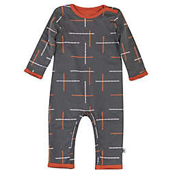 The Honest Company® Geo Organic Cotton Reversible Coverall in Grey/Copper