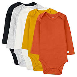The Honest Company® 5-Pack Graphic Nature Long Sleeve Bodysuits