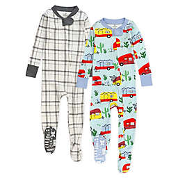 The Honest Company® Size 24M 2-Pack Road Trip Multicolored Organic Cotton Footed Pajamas
