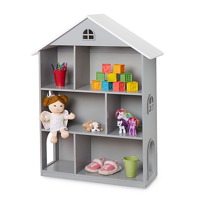Alternate image 1 for Wildkin Dollhouse Bookcase in Grey