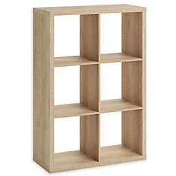Squared Away™ 6-Cube Organizer in Oak
