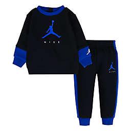 Nike® Jordan® 2-Piece Jumpman Fleece Crewneck and Pant Set in Black