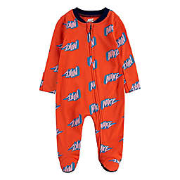 Nike® Thunder Block Footed Coverall in Crimson
