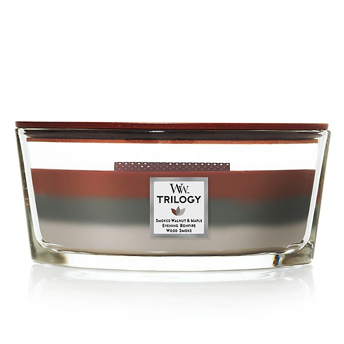 Alternate image 1 for WoodWick® Autumn Embers Ellipse Trilogy Candle