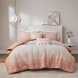 Urban Habitat Maren Ombre Printed Cotton Gauze 5-Piece King/California King Comforter Set in Blush