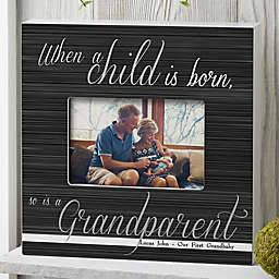 A Grandparent Is Born Personalized 4-Inch x 6-Inch Box Frame