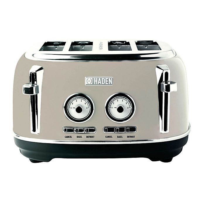 Alternate image 1 for Haden Dorset 4-Slice Stainless-Steel Toaster in Putty