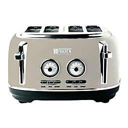 Haden Dorset 4-Slice Stainless-Steel Toaster in Putty