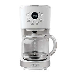 Haden 12-Cup Programmable Coffee Maker in Ivory White