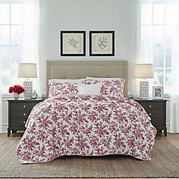 Laura Ashley® Annalise Quilt Set in Red