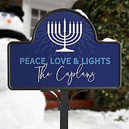 Hanukkah Personalized Magnetic Garden Sign