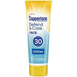 Coppertone® Defend and Care™ 3 oz. Oil-Free Face Sunscreen SPF 30