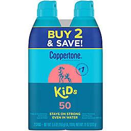 Coppertone® 2-Pack 5.5 oz. SPF 50 Kids Sunscreen Spray