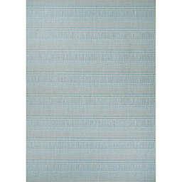 Couristan® Monte Carlo Ocean Breeze 7'6 x 10'9 Indoor/Outdoor Area Rug in Blue/Taupe