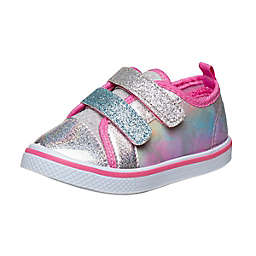 Laura Ashley® Size 7 Canvas Sneaker in Pink/Silver