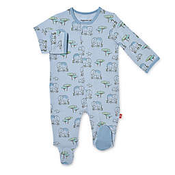 Magnetic Me® by Magnificent Baby Elephant Love You A Ton Magnetic Footie in Blue