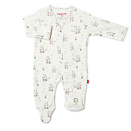 Magnetic Me® by Magnificent Baby Welcome Baby Magnetic Footie in Ivory