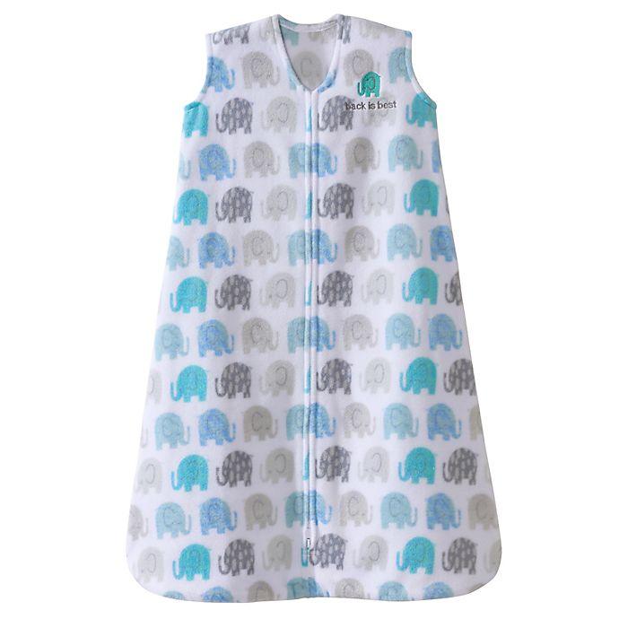 Alternate image 1 for HALO® SleepSack® Microfleece Wearable Blanket in Blue Texture Elephant