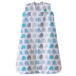HALO® SleepSack® Microfleece Wearable Blanket in Blue Texture Elephant