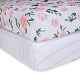 Burt's Bees Baby® Organic Cotton Autumn Fitted Crib Sheets in Blossom (Set of 2)