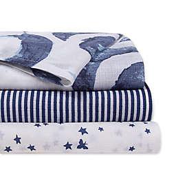 Burt's Bees Baby® 3-Pack Hello Moon Woven Cotton Muslin Receiving Blankets in Indigo