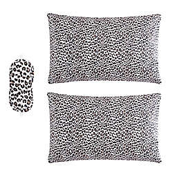 Betsy Johnson®  Leopard Standard Bonus Pillowcase Pair in Black