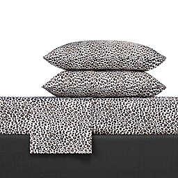 Betsy Johnson® Leopard Sheet Set in Black