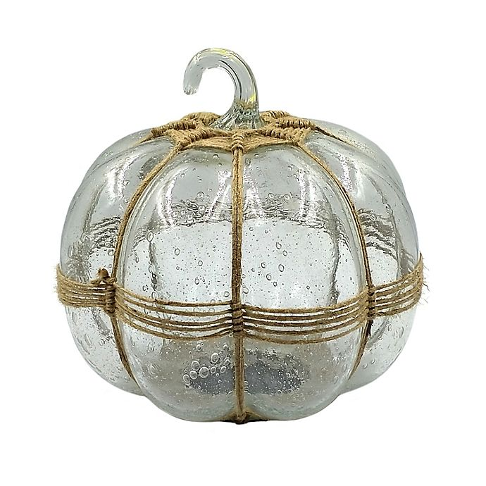 Alternate image 1 for Bee & Willow™ 9-Inch Stacked Glass Pumpkin with Twine