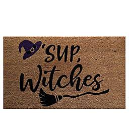 """""""Sup Witches"""" 30"""" x 18"""" Coir Door Mat"""