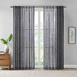 Madison Park® Kane Texture Printed Woven Faux Linen Window Curtain Panel