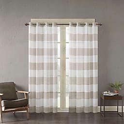 Urban Habitat Mason Yarn Dyed Woven Sheer Window Curtain Panel